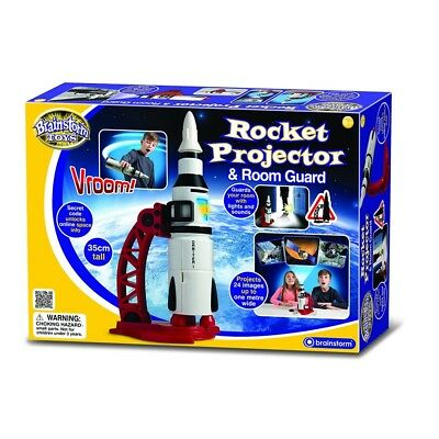 Brainstorm Toys Rocket Projector and Room Guard - Brand New!