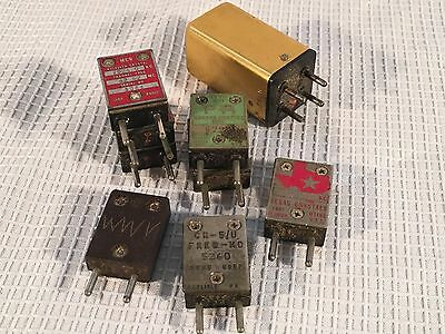 Lot of 9 - Vintage Fixed Frequency Crystals Electronics