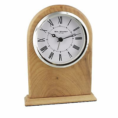 Traditional Design Beech Wooden & Glass Arched Mantel Clock W2772