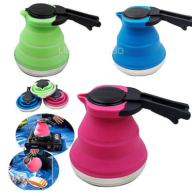 Portable Outdoor Camping Folding Silicone Kettle Boiled Water Retractable Teapot