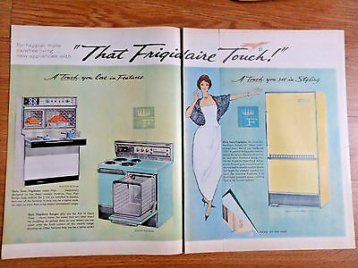1961 Frigidaire Kitchen Appliances Ad  Range Regrigerator Washer Dryer