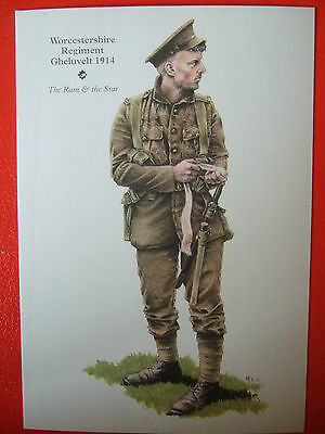 Military Postcard-Worcestershire Regiment Gheluvelt 1914  By Rob Chapman
