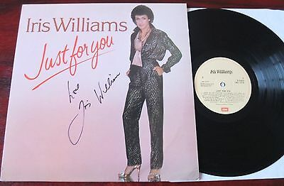 Iris Williams Just For You Signed Lp Emi (1981) Ex/nm Welsh Singer Autograph