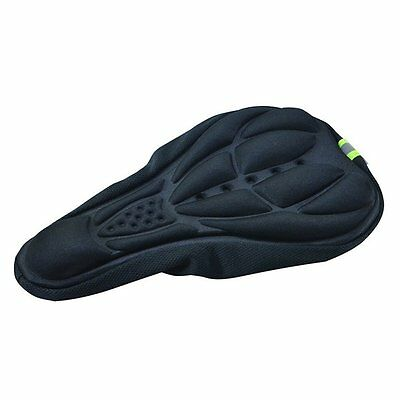 3D Black Silicone Comfortable Cycling Bicycle Bike Saddle Seat Cover Sport UK