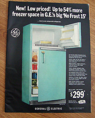 1965 GE General Electric Refrigerator Ad No Frost 15