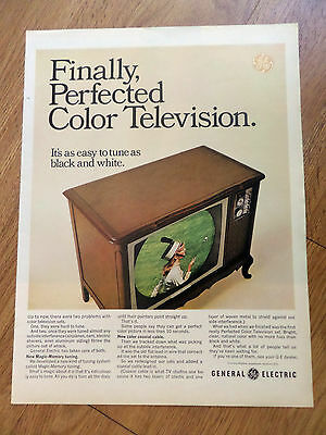 1965 GE General Electric TV Television Ad Perfected Color Easy to Tune