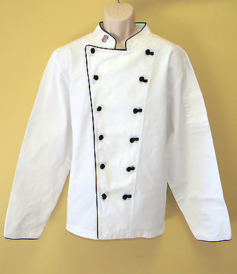 Lot Of 6 Pcs Nfl Premium Chef Coats 100% Cotton M Size Football Plain Chief Coat
