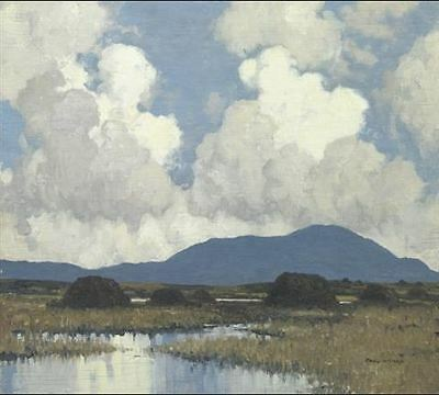 A Showery Day in the Bog - Paul Henry - Large Framed Print