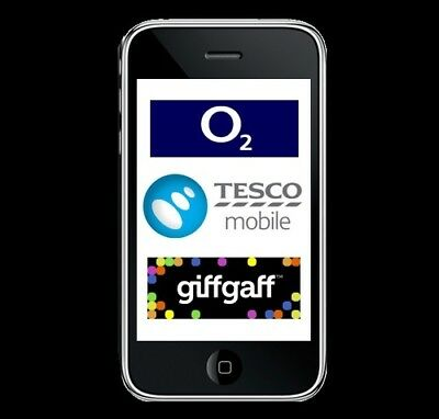 O2 Tesco GiffGaff UK Network Unlock Service For All Apple iPhones