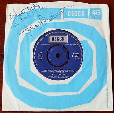 "Moira Anderson How Are Things In Glocca Morra? Signed 7"" Single Decca (1968)"