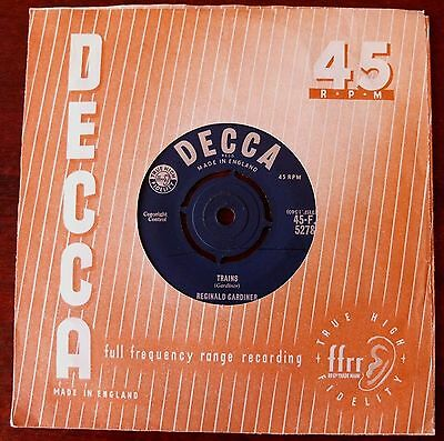 "Reginald Gardiner Trains 7"" Decca (1961) Vg+  Novelty Vocal Sound Effcts"