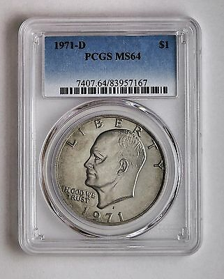 1971 D Ike Eisenhower Dollar PCGS MS 64