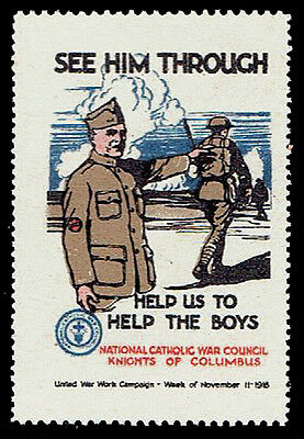 WWI 1918 United War Work - Knights of Columbus