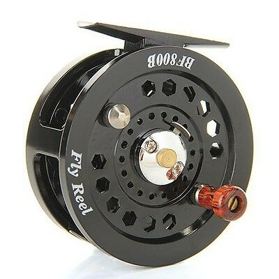 Durable Fly Fishing Reels Reel Freshwater Loop Right Left Handed Black