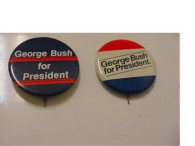 lot of 2 presidential candidate GEORGE BUSH  BUTTON