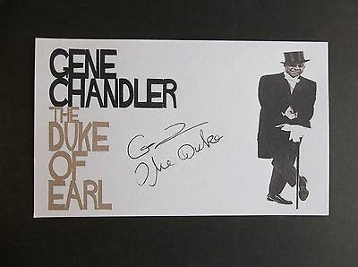 """""""The Duke Of Earl"""" Gene Chandler Autographed 3x5 Index Card"""
