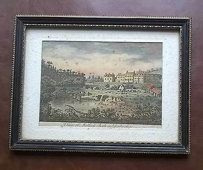 Antique Print View Of Matlock Bath, Derbyshire  Original 1749