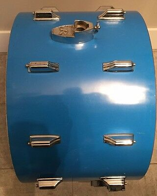 """Rogers Big R 22"""" bass drum shell / lugs/ parts"""