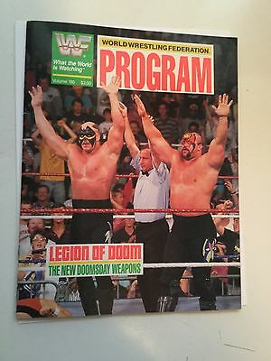 Wrestling rare program with program sheet Dec. 2, 1990