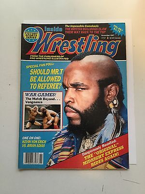 Wrestling vintage magazine Mr T Nov.1987