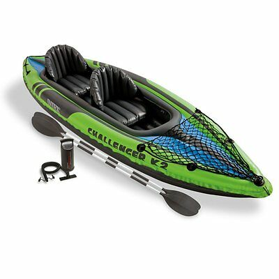 Intex 68306 - Piragua Challenger K2 Kayak Barca Hinchable Canoa Inflable Remos