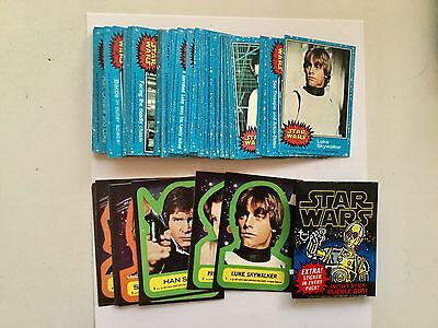 Star Wars series 1 rare cards and stickers set with wrapper 1977