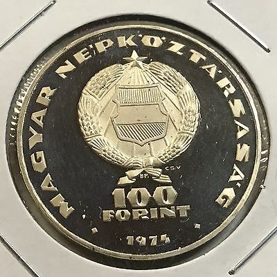 1974 Hungary Silver Proof 100 Forint Low 20,000 Mintage