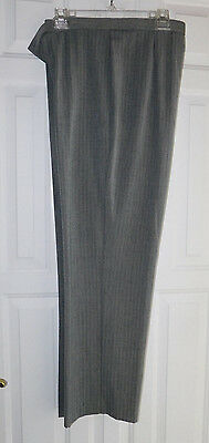 Womens Briggs New York dress pants, slacks, trousers, gray stripe, size 14 nwot