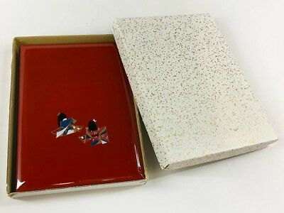 Vintage Japanese Unused Red Lacquered Telephone Number & Address Book
