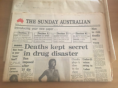 The Sunday Australian newspaper - Number 1 edition from 28 Feb 1971