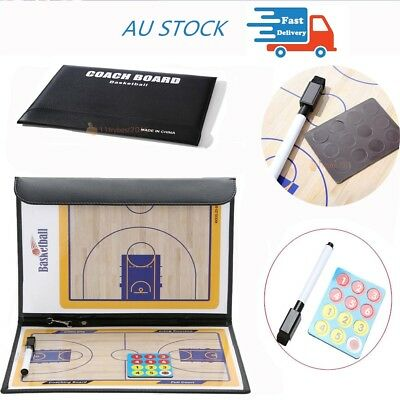 Basketball Coaching Board Coaches Clipboard Tactical Kit Double Side Dry Erase