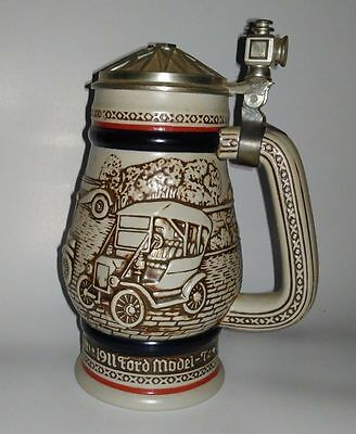 1979 Avon  CARS Collector beer Stein w pewter lid MINT