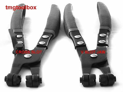 2Pc Hose Clamp Pliers 8-1/4'' Length, Remover & Installer Clip Ring V&cross Slot