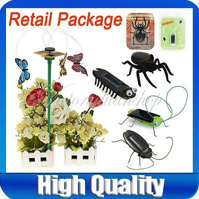 Educational Solar Powered Power Insect Gadget Bug Kit Toys Robot For Kids Gift