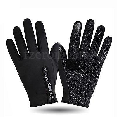 Warm Men's Outdoor Sports Cycling Bicycle Full Finger Comfy Waterproof Gloves