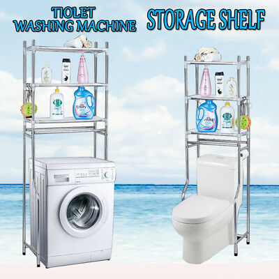 Over Toilet/Laundry Washing Machine Bathroom Storage Rack Shelf 3 Tiers  AU