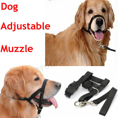 New Halti Dogs Puppy Adjustable Buckle Muzzle Stop Control Pulling Barking Link