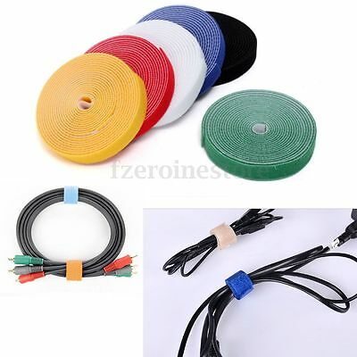New 10-25mm Reusable Fastener Self-Gripping Sticky Straps Cable Tie Strapping