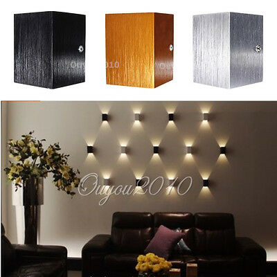 Modern LED Up Down Wall Light Porch Hall Lamp Sconce Walkway Ceiling Lighting