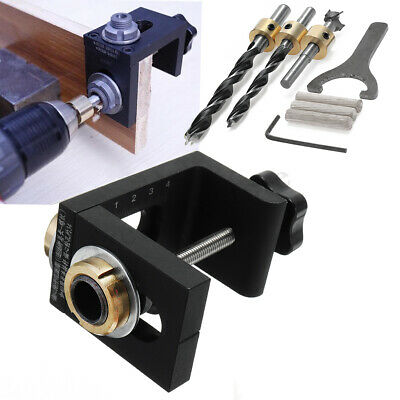 Mini Kreg Style Pocket Hole Jig Kit + Step Drilling Woodwork Joint Tool Kit Bit