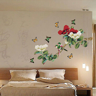 DIY Removable Flower and Bird Art Vinyl Quote Wall Sticker Decal Mural Home Room