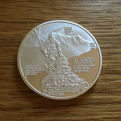 1 OZ SILVER COIN *SILVER WARRIOR* 2016 cryptic message fine art silver embossed