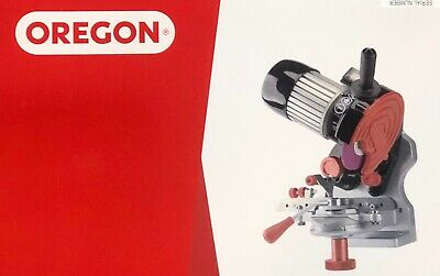 OREGON CHAINSAW CHAIN SHARPENER GRINDER #410-230 inc 3 GRINDING WHEEL UP TO 404