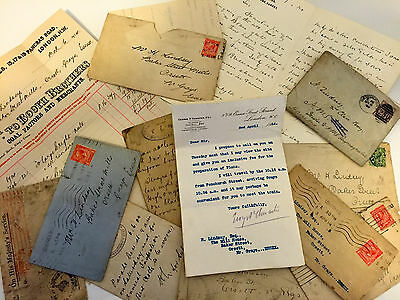 Museum Quality Antique Personal Business Letters 1899 & 1914 H. Lindsey Esq.
