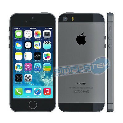 APPLE IPHONE 5S 16 GB BLACK GRADIENT C with accessories and WARRANTY 4 MONTHS