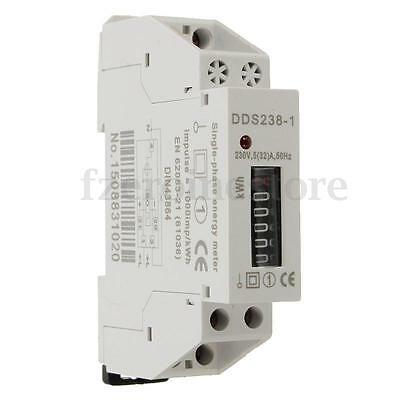 DDS238-1 230V Rail-Type Electronic Type Mini Electricity Meter Counter Display F