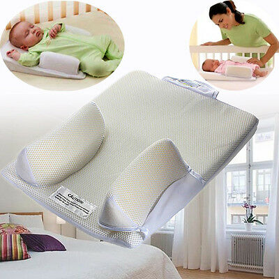 Baby Infant Headrest Sleep Positioner Prevent Flat Head Shape Anti Roll Pillow