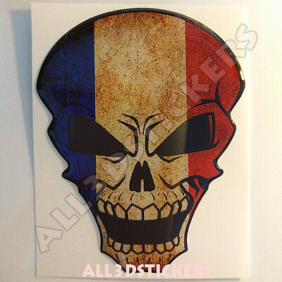 Sticker Flag Cameroon Skull Adhesive Decal Resin Domed Car Moto Tablet 3D