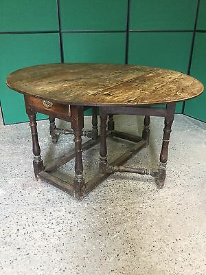 Antique 18th C Oak Gate Leg Table
