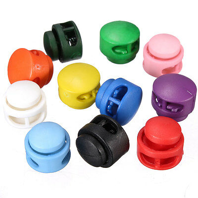 Colorfull Plastic Spherical Cord Stopper Lock End Toggles With Metal Spring